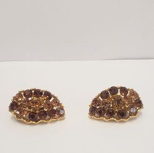 Vintage Lisner Crystal Earrings